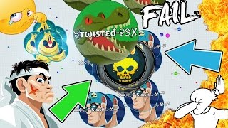 WORST FAILS EVER IN AGAR.IO!! BEST FUNNY FAILS #RAGE MOMENTS (Agario)