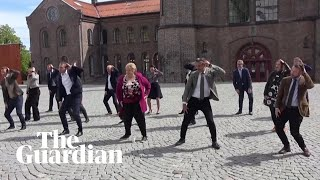 Norwegian politicians film physically distanced dance for national day