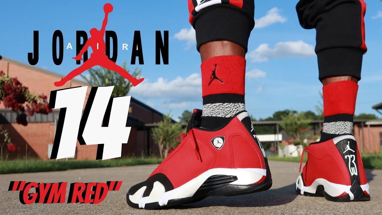 "EARLY LOOK!! JORDAN 14 ""TORO/ GYM RED"" REVIEW & ON FEET W/ LACE SWAPS!!"