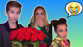 SURPRISING BFF with ROSES to make my CRUSH JEALOUS   *GONE TOO FAR** Sawyer Sharbino