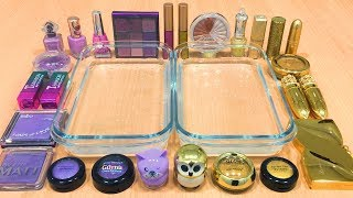 Download Video PURPLE vs GOLD | Mixing Makeup Eyeshadow into Clear Slime! Special Series #35 Satisfying Slime Video MP3 3GP MP4