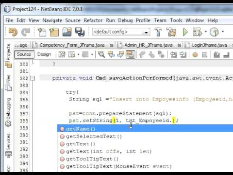 Java prog#14 How to Insert/Save data from netbeans java into database  Sqlite (MySql)
