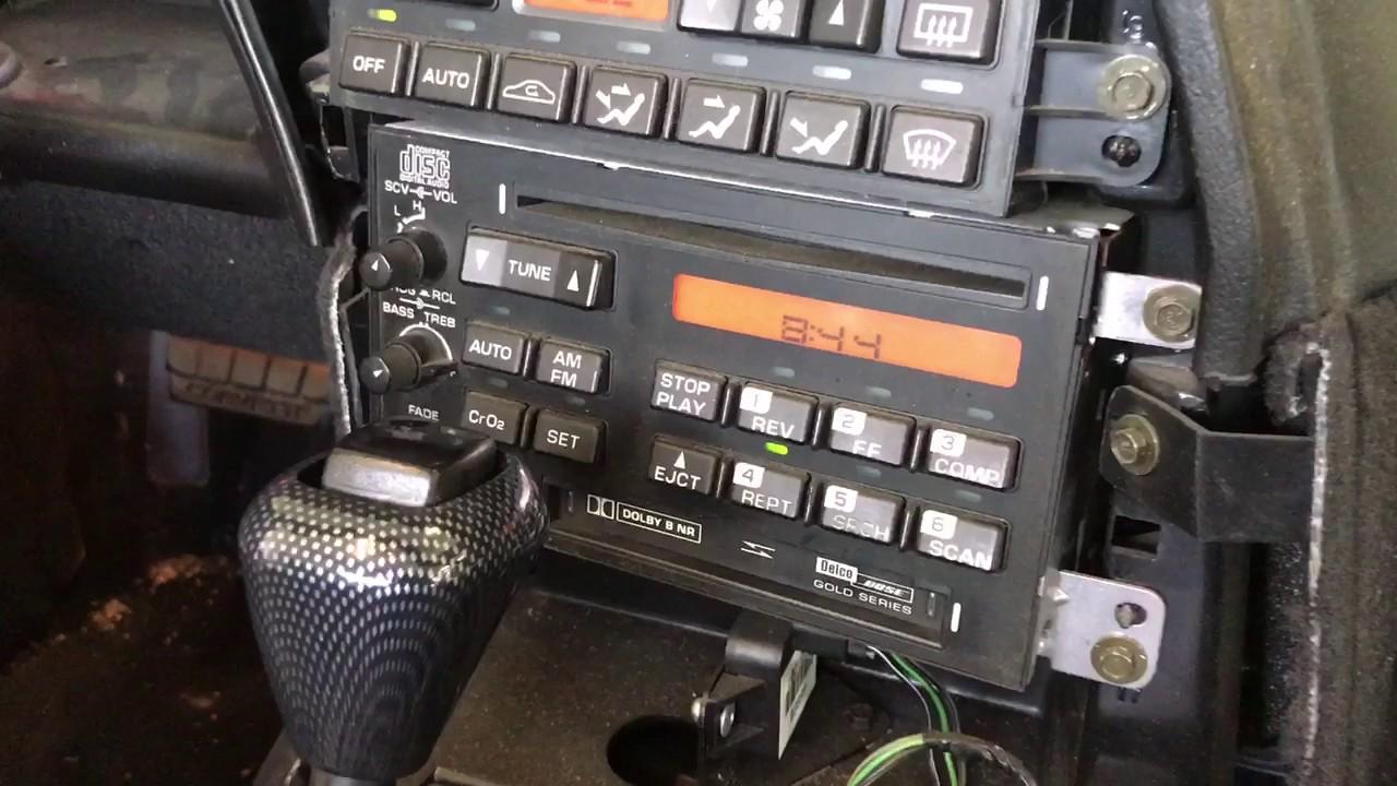 C4 Corvette double din radio install 1996 Chevrolet Los Angeles  YouTube
