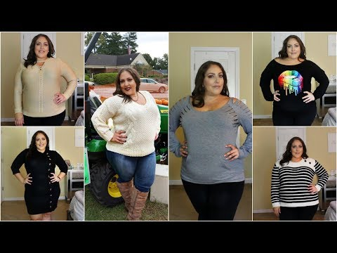 FALL 2018 SWEATER TRY-ON HAUL   ROSEGAL   PLUS SIZE FASHION CLOTHING HAUL