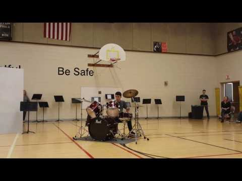 Neil's Drumming at Briggs Middle School Talent Show 5/27/2016