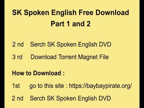 SK Spoken english Free Download Part 1 and 2