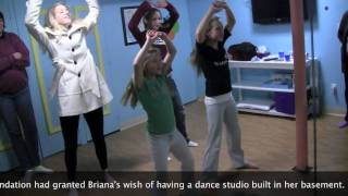 Glee's Heather Morris visits Briana's home dance studio