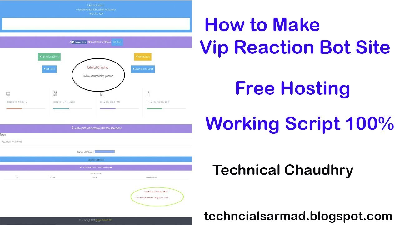 how to make vip reaction bot site free 2018 Technical Chaudhry