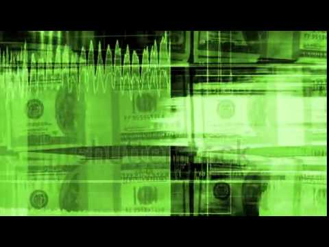stock footage money and graphs geometric looping animated background in green