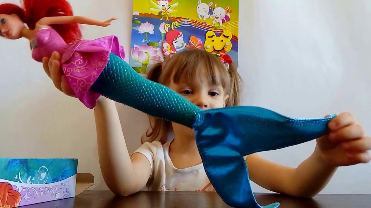 Принцесса Диснея, кукла-русалка Ариэль.Видео для детей. Disney .