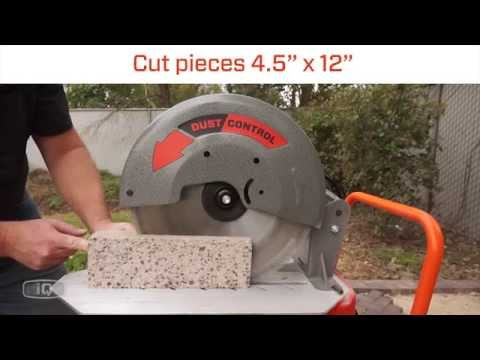 Iq power tools: iq360x™ the world's first dust control masonry saw