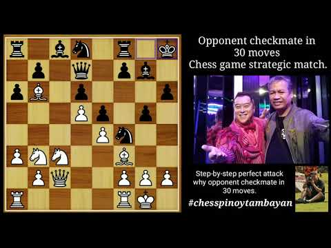 Opponent Checkmate In 30 Moves: Chess Game Strategic Match.