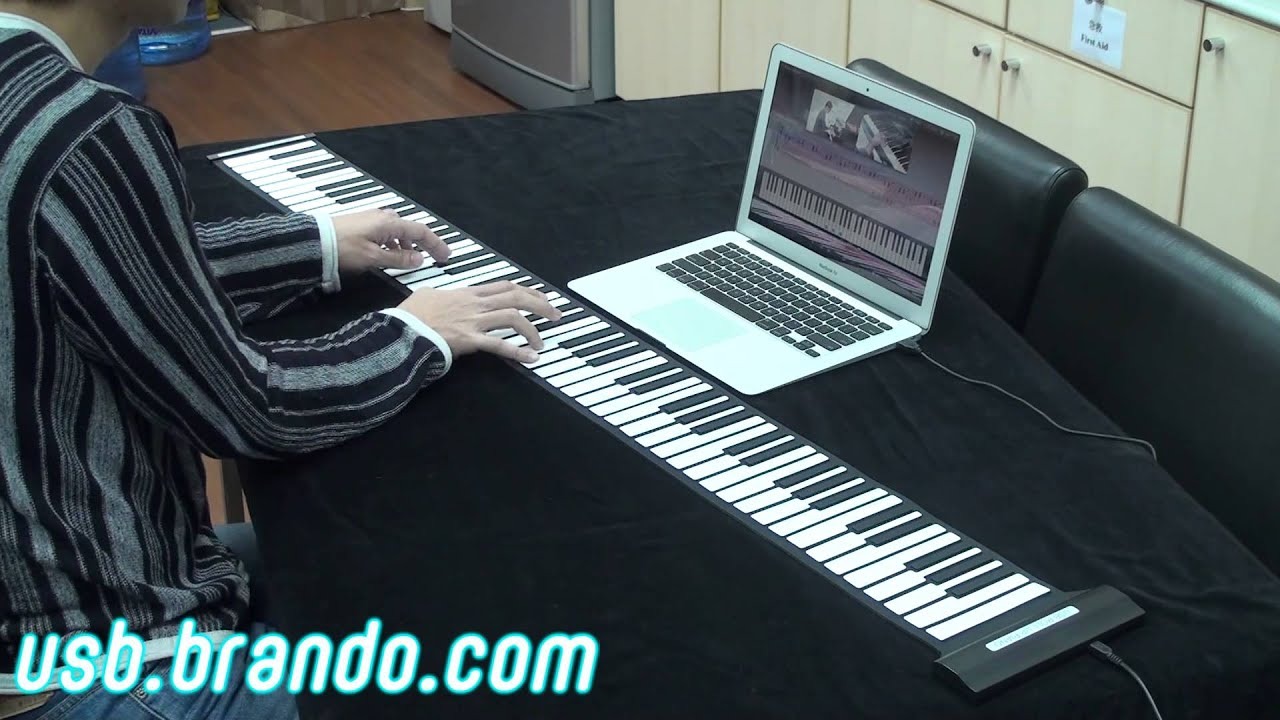 Usb Roll Up Piano 88 Keys Youtube Computer Keyboard Diagram For Kids Cabinet Block