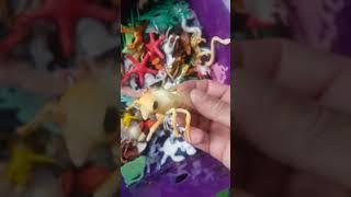 Big box small animals , Kids plastic toy , baby animals