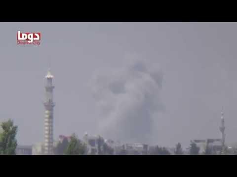 تنسيقية دوما : غارات متتالية من الطيران الحربي على حي جوبر الدمشقي في محاولة لإقتحامه 22/7/2014