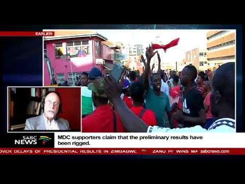 Reaction to Zimbabwe elections results protests: Derek Matyszak