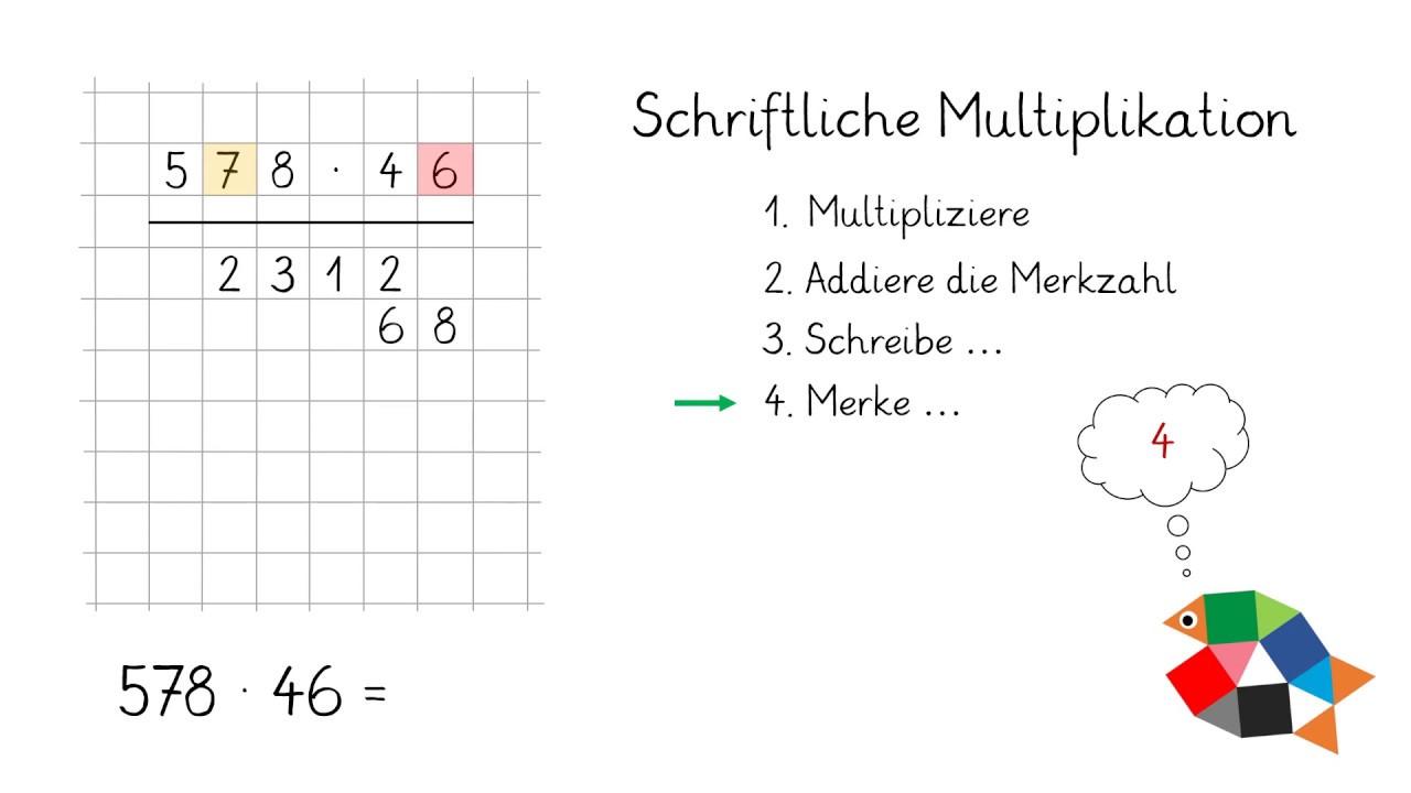 Schriftliche Multiplikation Teil 20 / Mathe lernen in Klasse 20 / einfach  schlau üben