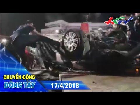 Giây phút cả chục người cứu tài xế bị kẹt trong ô tô lật ngửa | CHUYỂN ĐỘNG ĐÔNG TÂY - 17/4/2018