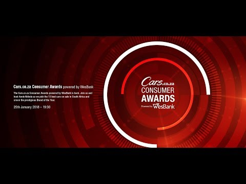 Cars.co.za Consumer Awards 2017/2018 powered by WesBank