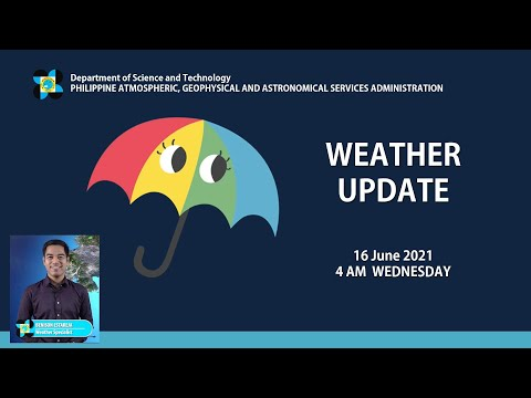 Public Weather Forecast Issued at 4:00 AM June 16, 2021