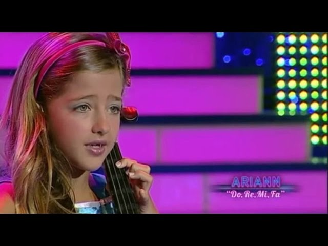 The sound of music - Do Re Mi Fa - 8 years old ARIANN (live TV) Dalas Review #1