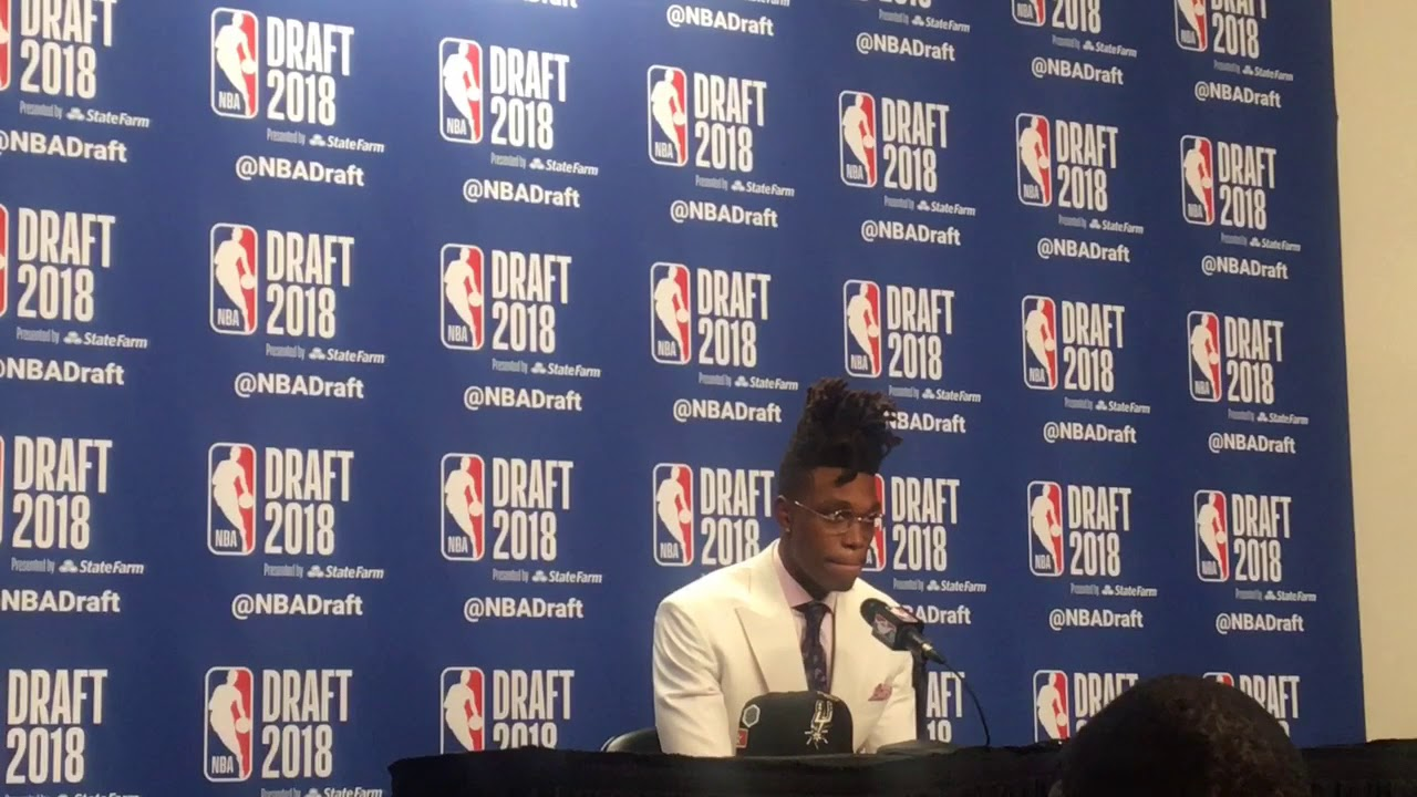 4a54a39a668a NBA Draft 2018  Lonnie Walker reacts to landing with Spurs - YouTube