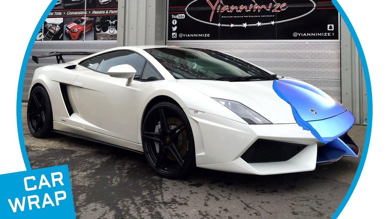 Lamborghini Gallardo Wrapped In Satin Ocean Shimmer Youtube