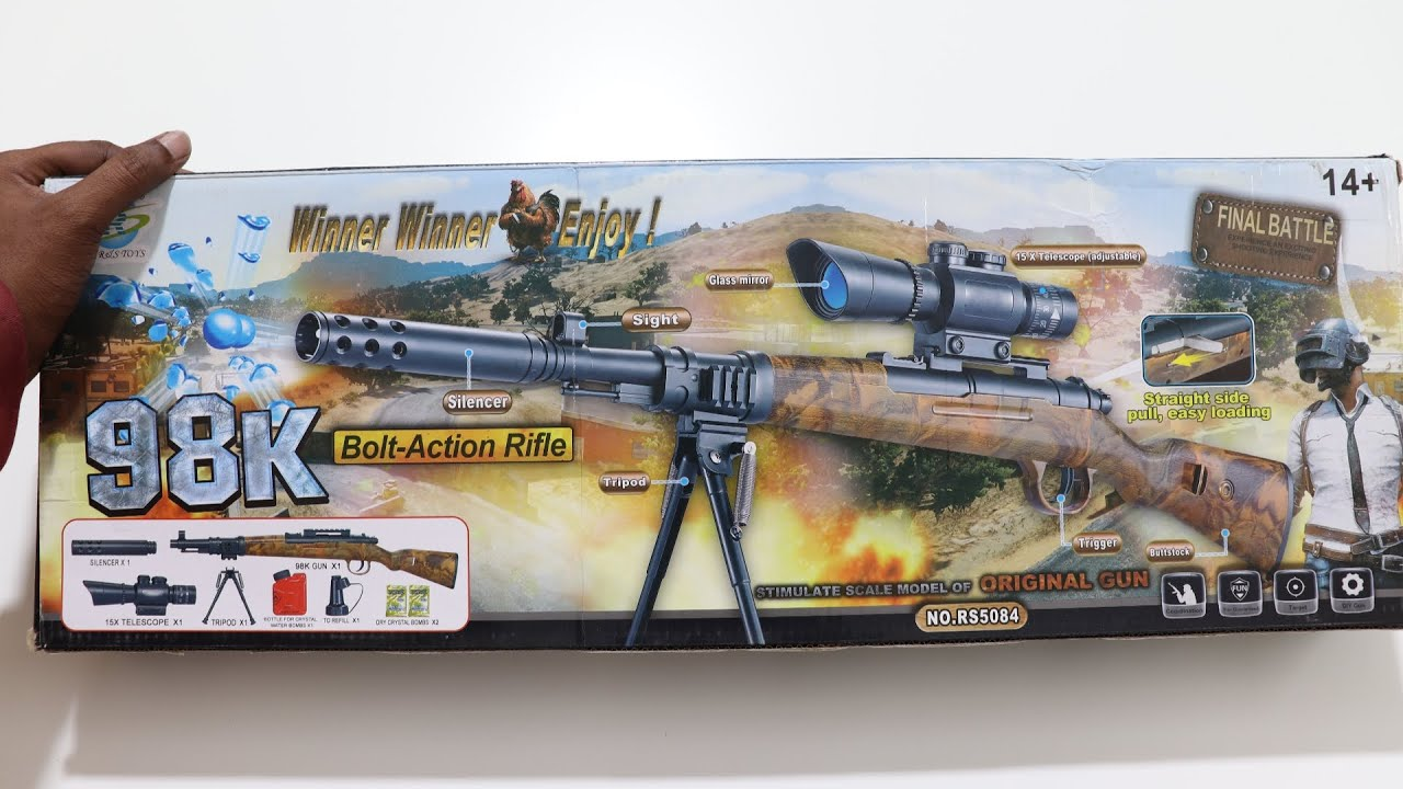 PUBG Kar 98k Toy Gun Unboxing - PUBG Toys - Chatpat toy tv