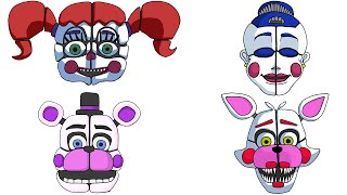 All of my Sister Location (FNaF) Drawing All Trailer Animatronics