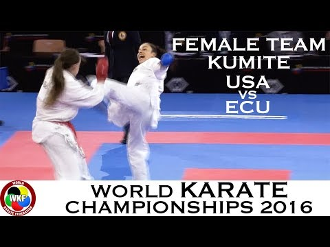 BRONZE. (3/3) Female Team Kumite USA vs ECU. 2016 World Karate Championships