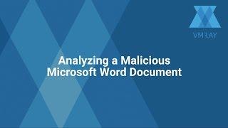 Analyzing a Malicious Microsoft Word Document