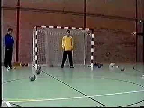 Entrenamiento de portero futbol sala  YouTube