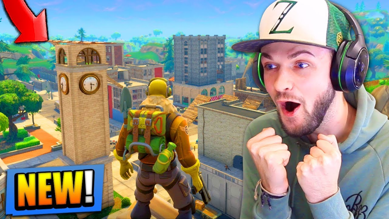 New Map Gameplay In Fortnite Battle Royale Tilted Towers Youtube