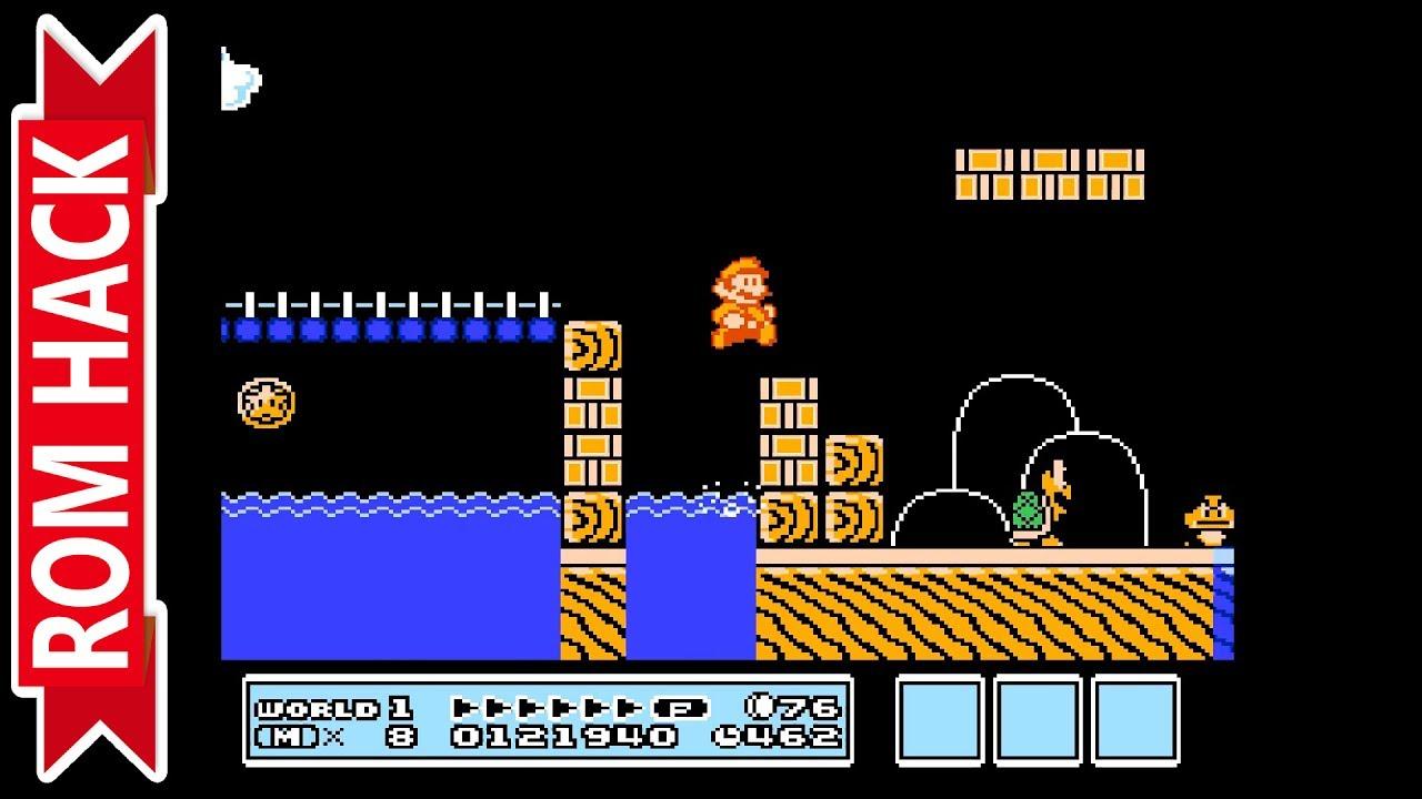 Super Mario Bros 3mix Nes Rom Hack Retroarch Emulator 1080p