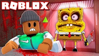 EVIL Spongebob Squarepants tried to KILL ME in Roblox Creepy Elevator!