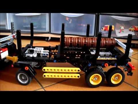 lego technic 9397 grumier et sa remorque youtube. Black Bedroom Furniture Sets. Home Design Ideas