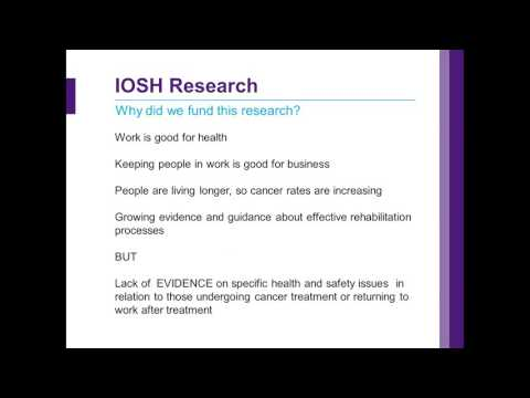 Return to work after cancer webinar 01 Feb 2017