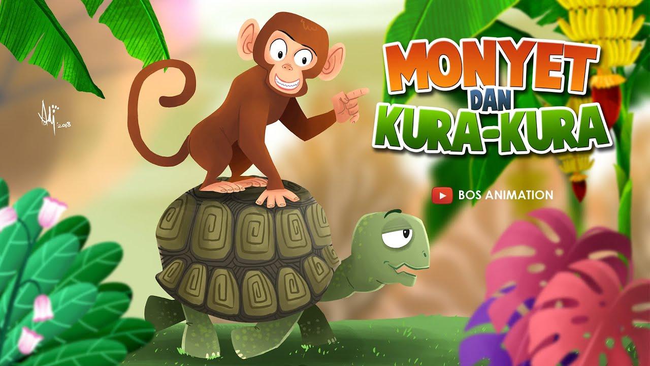 Gambar Monyet Dan Anaknya Animasi Film Animasi 2d Dongeng Cerita Rakyat Monyet Dan Kura Kura Youtube