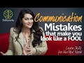 Improve Communication Skills – Don't look like a fool | Speak Confidently | Personality Development