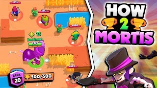 DO THIS ONE TRICK WITH MORTIS TO WIN EVERY TIME IN BRAWL STARS! MAX 500 MORTIS GAMEPLAY!