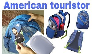 American Tourister 29 Ltrs Blue Casual Backpack unboxing   (AMT Mist SCH BAG01 Blue)