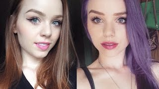 NATURAL RED OR GINGER HAIR TO LILAC PURPLE