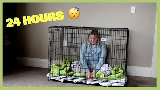 I spent 24 HOURS in a dog cage! AND THIS HAPPENED...