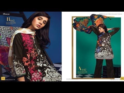 Latest Orient Textiles Chiffon Embroidered Unstitched Collection 2018