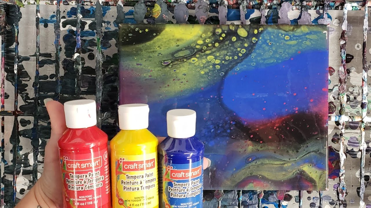 Acrylic Pouring With Tempera Paints