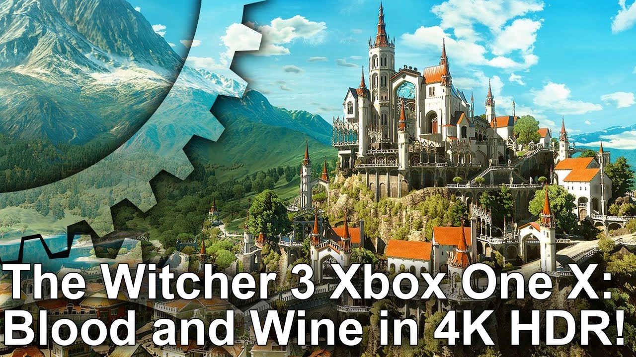 4k hdr the witcher 3 blood and wine on xbox one x. Black Bedroom Furniture Sets. Home Design Ideas