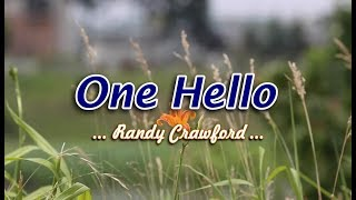 One Hello - Randy Crawford (KARAOKE)