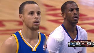 Stephen Curry vs Chris Paul PG Duel 2014 Playoffs R1G7 GSW at LAC - 55 Pts, 23 Assists Combind!