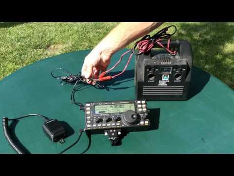 HF Ham Radio Random Wire Portable Antenna Backyard. Post 1721.