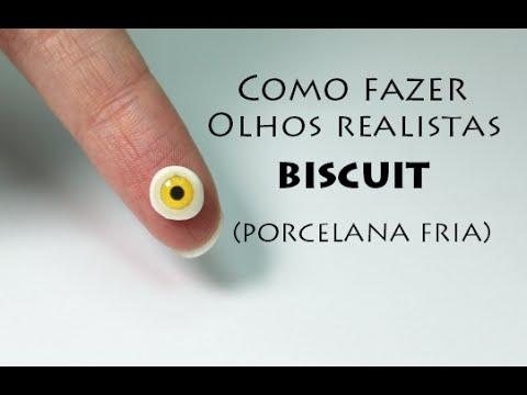 Olhos Realistas Iris De Resina Viviana Biscuit Clay Eyes Olho